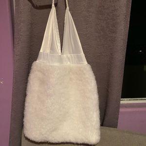 White silk fluffy dress